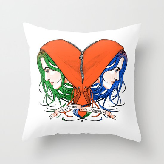 Clementine's Heart Throw Pillow