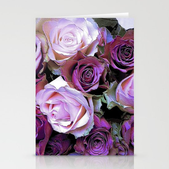 Romantic Roses Stationery Card