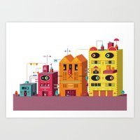Buildings Art Print