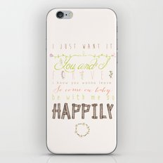 One Direction: Happily iPhone & iPod Skin