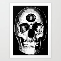 Third Eye Bones (Black and White Edition) Art Print