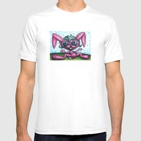 Delyla's Bunny Mens Fitted Tee White SMALL