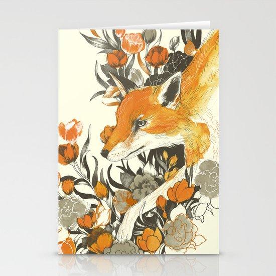 fox in foliage Stationery Card