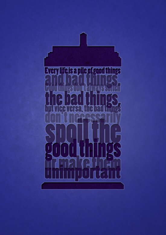 Good Things And Bad Things Art Print