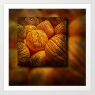 Art Print featuring Halloween Pumpkins by Wendy Townrow