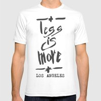 Less is More - Los Angeles -  Mens Fitted Tee White SMALL