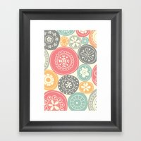 Candy Circles Framed Art Print