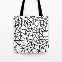 Segment Dense Black On W… Tote Bag