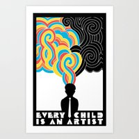 Every Child Is An Artist Art Print
