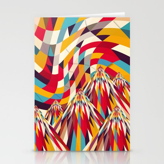 Colorful Mountains Stationery Card