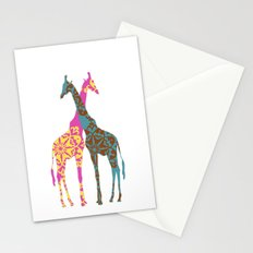 Two Giraffes together Stationery Cards