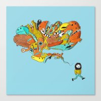 Thinking Of Monsters Canvas Print
