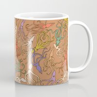 Squids of the inky ocean - retro colorway Mug