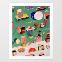 Parabolic Art Gallery Art Print