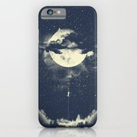 clouds iPhone & iPod Cases featuring MOON CLIMBING by los tomatos