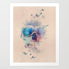 Skull Rainbow Art Print