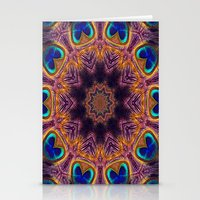 Peacock Fan Star Abstrac… Stationery Cards