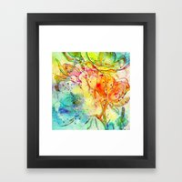 bright floral Framed Art Print