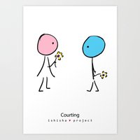 COURTING by ISHISHA PROJECT Art Print