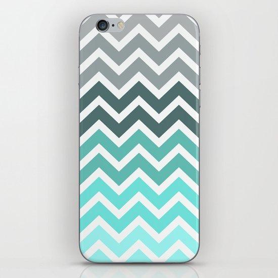 Tiffany Fade Chevron Pattern iPhone & iPod Skin