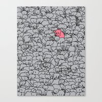 Word 2 The Herd V1 Canvas Print