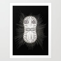 Diatom Face Art Print