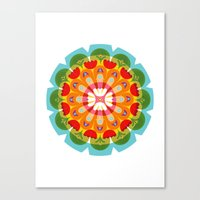 Kaleidoscope Flora 01 Canvas Print