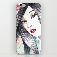 Geisha Glance iPhone & iPod Skin
