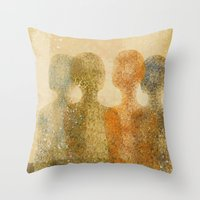 four figures Throw Pillow