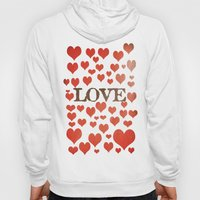 Love Heart Valentines Design  Hoody