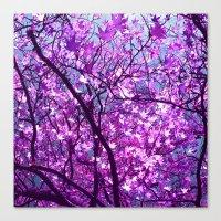 purple tree XXXIII Canvas Print
