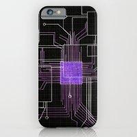 Circuit Board Purple iPhone 6 Slim Case