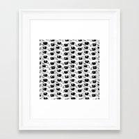 Ogies Swart Framed Art Print