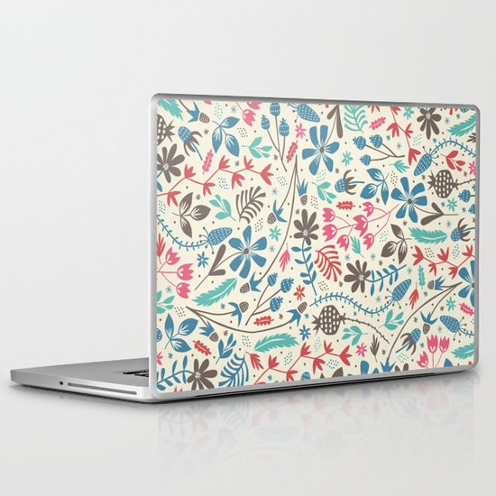Retro Blooms Laptop & iPad Skin