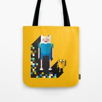 finn the pixel Tote Bag
