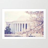 Cherry Blossoms At The J… Art Print