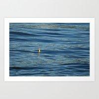 Fishing Float on the SEA 001 Art Print