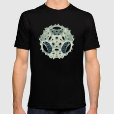 Icosahedron Bloom Black Mens Fitted Tee SMALL