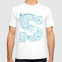 Monster Doodle - Light V… Mens Fitted Tee White SMALL