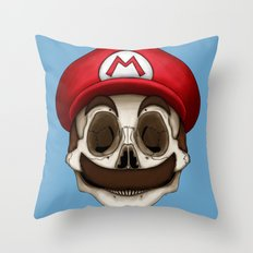Stack's Skull Sunday No. 10 (Mario) Throw Pillow