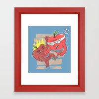 Eat this ! Framed Art Print