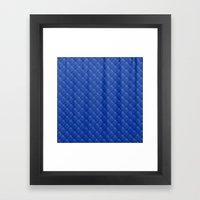Blue Diamond Pattern Cur… Framed Art Print