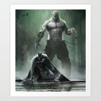 Bane V The Bat  Art Print