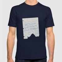 We Should Just Totally Stab Caesar! quote from the movie Mean Girls Mens Fitted Tee Navy SMALL