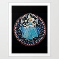 Paper fairytale window Art Print