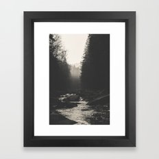 Morning river Framed Art Print