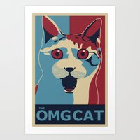 ✩ The OMG Cat Poster Art Print