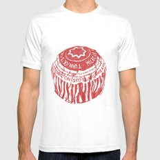 Tea Cake pen drawing (red) SMALL White Mens Fitted Tee
