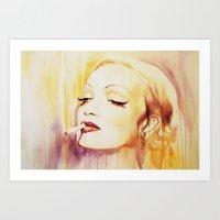 Marlene Dietrich With A … Art Print