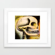 skull with colors  Framed Art Print